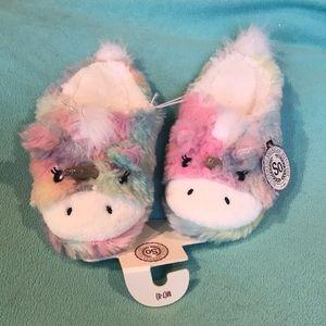 Brand new unicorn slippers